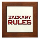 zackary rules Framed Tile