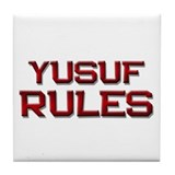 yusuf rules Tile Coaster