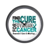 Find The Cure 1 OVARIAN CANCER Wall Clock