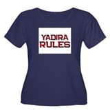 yadira rules Women's Plus Size Scoop Neck Dark T-S