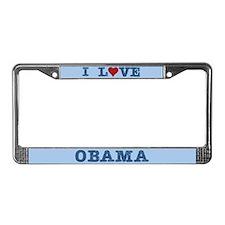 I Love Heart Obama License Plate Frame