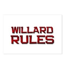 willard rules Postcards (Package of 8)