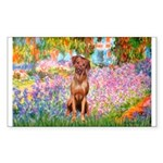Garden / R Ridgeback Sticker (Rectangle 50 pk)