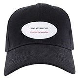 Real Men Become Construction Managers Baseball Hat