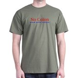 No Colon Black T-Shirt