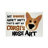 Corgi Nose Art Rectangle Magnet (100 pack)