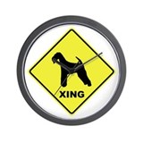 Airedale Terrier Crossing Wall Clock