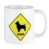 Australian Terrier Crossing Small Mugs