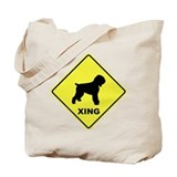 Black Terrier Crossing Tote Bag