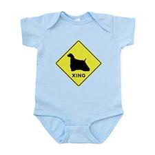 Cocker Spaniel Crossing Infant Bodysuit