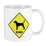 English Foxhound Crossing Coffee Mug