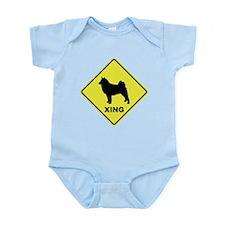 Finnish Spitz Crossing Infant Bodysuit