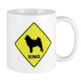 Finnish Spitz Crossing Coffee Mug