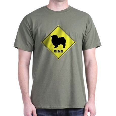 Keeshond Crossing Dark T-Shirt
