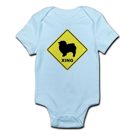 Keeshond Crossing Infant Bodysuit