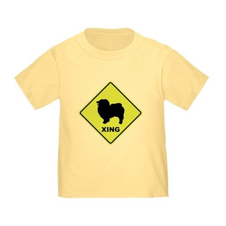 Keeshond Crossing Toddler T-Shirt