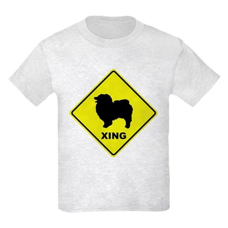 Keeshond Crossing Kids Light T-Shirt