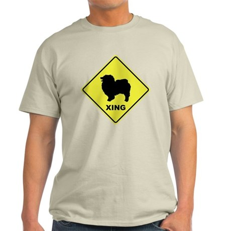 Keeshond Crossing Light T-Shirt