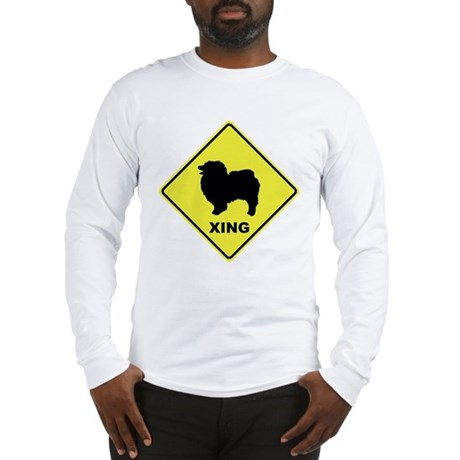 Keeshond Crossing Long Sleeve T-Shirt