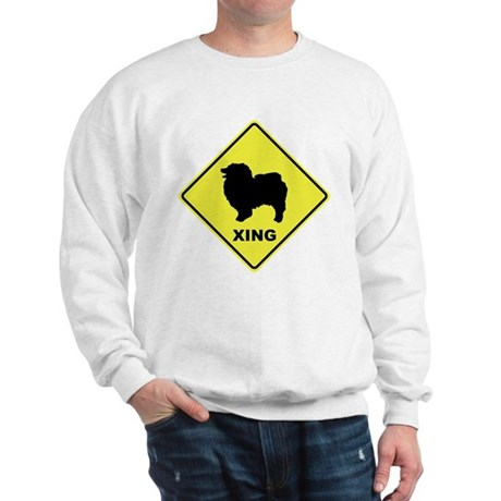 Keeshond Crossing Sweatshirt