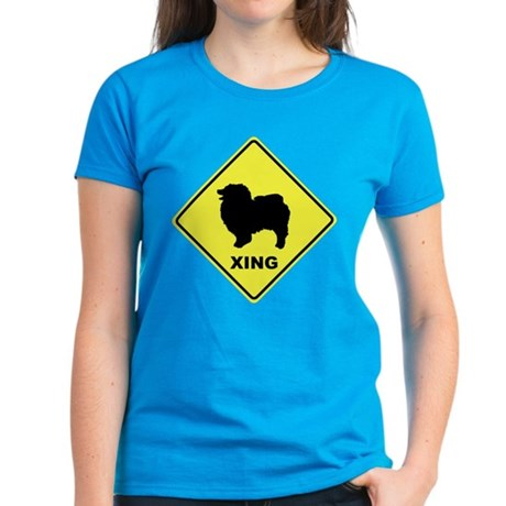 Keeshond Crossing Women's Dark T-Shirt