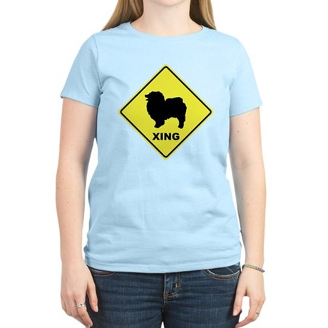 Keeshond Crossing Women's Light T-Shirt