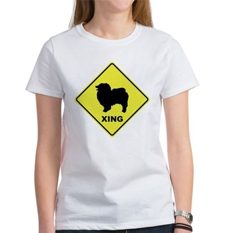 Keeshond Crossing Women's T-Shirt
