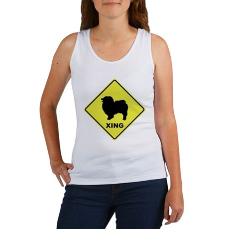 Keeshond Crossing Women's Tank Top