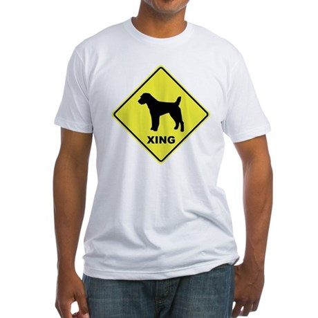 Jack Russell Crossing Fitted T-Shirt