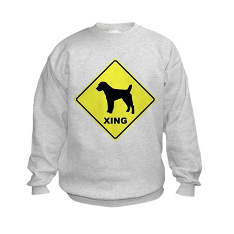 Jack Russell Crossing Kids Sweatshirt