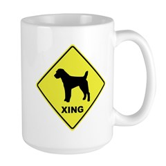 Jack Russell Crossing Large Mug