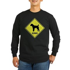 Jack Russell Crossing Long Sleeve Dark T-Shirt