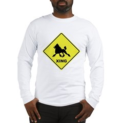 Poodle Crossing Long Sleeve T-Shirt