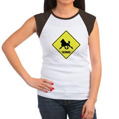 Poodle Crossing Women's Cap Sleeve T-Shirt