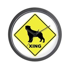 Rottweiler Crossing Wall Clock