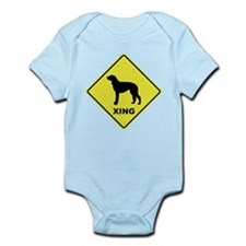 Scottish Deerhound Crossing Infant Bodysuit