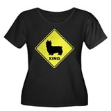 Silky Terrier Crossing Women's Plus Size Scoop Nec