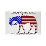 Let God have the Reins Rectangle Magnet (10 pack)