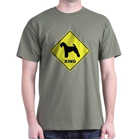 Welsh Terrier Crossing Dark T-Shirt