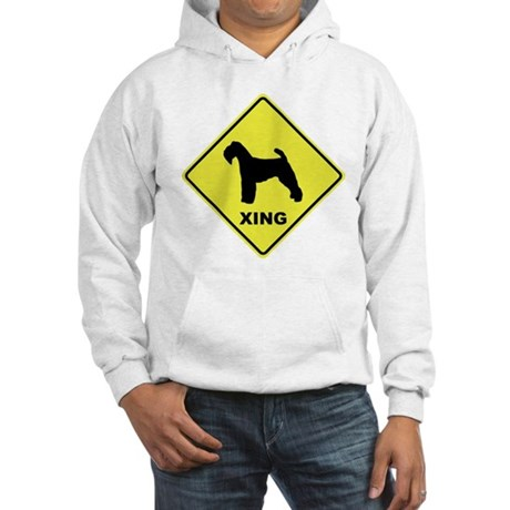 Welsh Terrier Crossing Hooded Sweatshirt