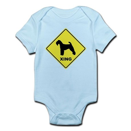 Welsh Terrier Crossing Infant Bodysuit