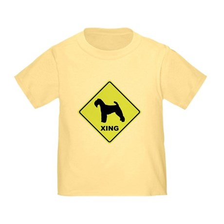 Welsh Terrier Crossing Toddler T-Shirt