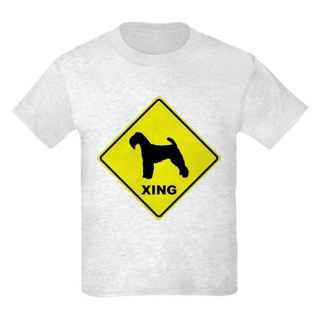 Welsh Terrier Crossing Kids Light T-Shirt