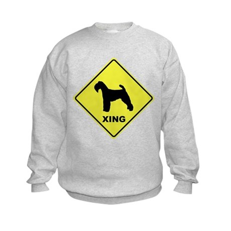 Welsh Terrier Crossing Kids Sweatshirt
