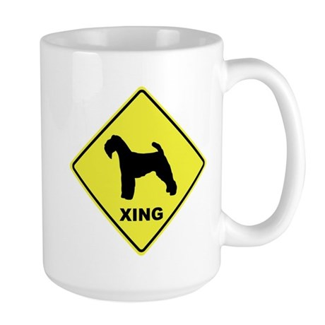 Welsh Terrier Crossing Large Mug