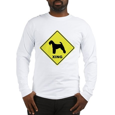 Welsh Terrier Crossing Long Sleeve T-Shirt