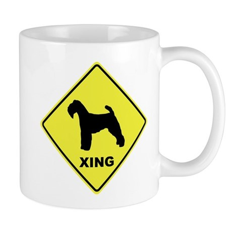 Welsh Terrier Crossing Mug