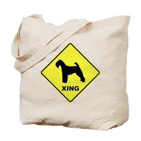 Welsh Terrier Crossing Tote Bag