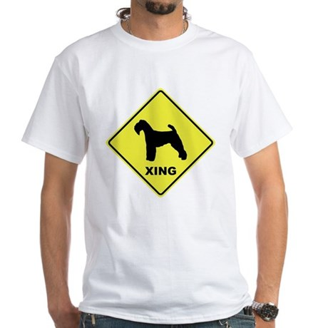 Welsh Terrier Crossing White T-Shirt