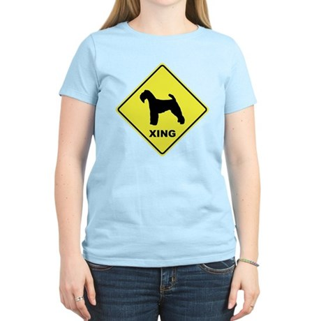 Welsh Terrier Crossing Women's Light T-Shirt
